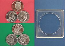 1974 P D S Eisenhower Dollars With 2x2 Snaps From Mint Sets Flat Rate Shipping