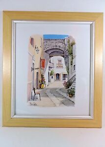 MARIO CUPPA SIGNED AND FRAMED WATERCOLOUR  'Sorento'
