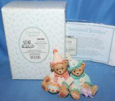 Cherished Teddies Palmer & Charlene Clowning. Figurine # 786586 2000 Enesco