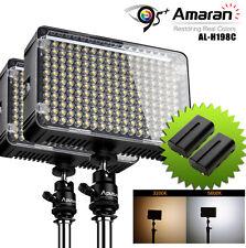 2x Aputure CRI95+ AL-H198C 3200-5500K 198 LED Video Light Lamp+ NP-F550 Battery