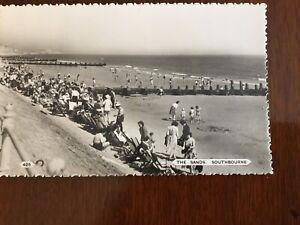 Vintage Postcard The Sands Southbourne Dorset 425 Dearden and Wade