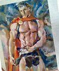 Original art,gay interest,sexy beaut boy,Land of warriors,male torso,muscle man