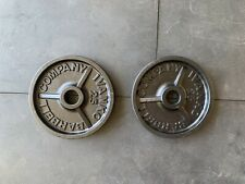 "IVANKO 25LBS Olympic 2"" deep dish weight plates weights vintage 50LBS Total"
