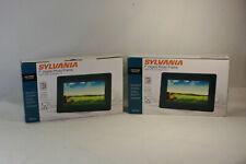 "Lot of Two (2) Sylvania 7"" Digital Photo Frames LED Panel SDPF752 FREE Shipping!"