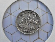 1928   Australian George v Threepence , FREE POSTAGE,LOCAL     AND UK. - USA.