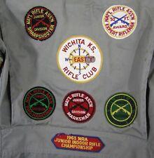 Vintage 1963 NRA Junior Indoor Riffle Gun Club Shooting Jacket Marksman Patches