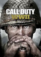 Call of Duty Poster WWII World War 2 Hot Game Xbox PS4 FREE P+P CHOOSE YOUR SIZE