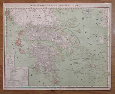 Palästina - alte Landkarte aus ca. 1860 Universal-Handatlas Handtke old map