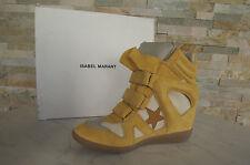 ISABEL MARANT 41 High-Top Baskets Bottines bottines BAYLEY jaune neuf