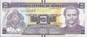 HONDURAS 2 Lempiras 🌎💷 P-97; UNC; 2012 🌎💷 Port of Amapala
