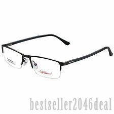 Mens Business Half Rimless Glasses Optical Frame Eyeglasses Clear Lens Eyewear