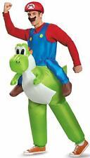 Adult Inflatable Super Mario Riding Yoshi Fancy Dress Costume Ride On Nintendo