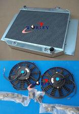 FOR 3 ROW Holden Kingwood HG HT HK HQ HJ HX V8 Auto Aluminium Radiator & FANS