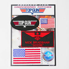 "TOP GUN ""GOOSE"" FANCY DRESS Iron-On Patch Super Set #129 - FREE POSTAGE!"