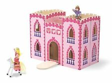 Melissa  Doug Fold and Go Wooden Princess Castle With 2 Royal Play Figures, 2