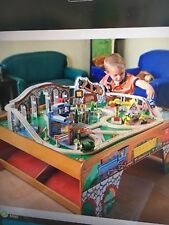 Thomas the train wooden train set and table with trains