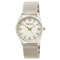 Kenneth Cole 10030781 Men's Cream Dial Steel Mesh Bracelet Watch