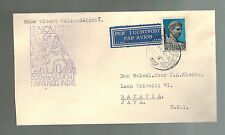 1937 Amsterdam to Batavia Netherlands Indies 500th KLM Flight Airmail Cover