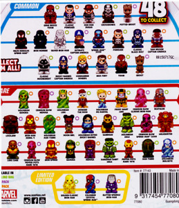 OOSHIES Common , Rare & Limited Edition Marvel Series 3 Collection