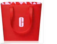 2019 Clinique Limited Edition RED Tote 15x12x3.5 NEW Reversible