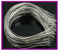 3 5 7mm 10 20 50 100pcs Bulk Metal Sliver Hair Band DIY Craft Hairbands Bend End