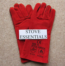 Heat Resistant Stove Gloves Gauntlets New Leather