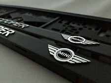 2 x ECHTE 3D Kennzeichenhalter Nummernschildhalter MINI COOPER.