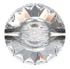 💎 de cristal de Swarovski 27 mm Botones Redondo cose en 3015 Rivoli claro frustrado Diamanté