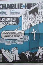 CHARLIE HEBDO No 446 JANVIER 2001 CABU PAPE JEAN PAUL II LES BONNES RESOLUTIONS