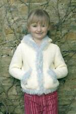 "Peter Pan Knitting Pattern P991 Baby Childs Cardigans 20-28"" Darling DK Eyelash"