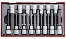 """Juego de 15 piezas. Contiene vasos de 1/2"""" para puntas Ribe y XZN de 100 mm long"""