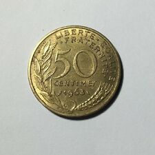 50 centimes LAGRIFFOUL 1963 col 4 plis Num11