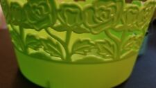 Bargain Buy Green Lace Looking Round  Plastic Basket  New  2018