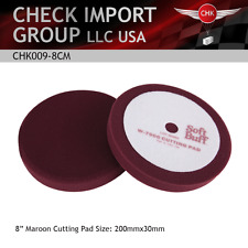 "Premium RED Coarse Foam Polishing Buffing Pad Large 8"" Diameter Medium Scratch"