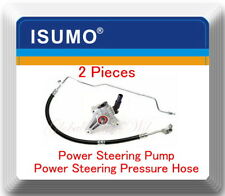 2 Power Steering Pump & Pressure Hose Fits: Honda Accord  V6 3.0L 2003-2006