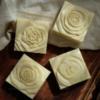 DIY Rose Flower Silicone Soap Mold Craft Soap Making Mould Square Handmade Mold