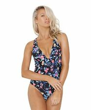 BNWOT BILLABONG 2016 LADIES BLACK NITE ONE PIECE SWIMSUIT SIZE 10 BARGAIN