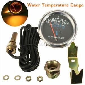 "2"" 52mm Pointer Mechanical Car Water Temp Temperature Gauge Black Face ℃ & ℉ 12V"