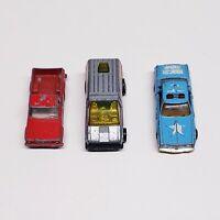 Lot Of Three Vintage Toy Cars 1978 Hot Wheels, 1981 KidCo, 1964 No 71 Lesney