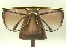 Vintage Viva Moda Italiana L200 YG/BU Gold Burgundy Oval Sunglasses Frames