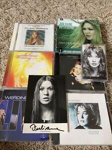 Sammlung Juliane Werding 6 CD, 1 MC und Autogrammkarte