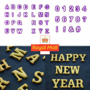 40 Pieces Alphabet Letter and Number Fondant Cookie Cake Cutters Decorating Set
