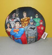 "12"" DC Comics Justice League Batman Flash Superman Round Pillow Collectible"
