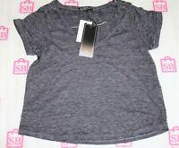 COTTON ON Brand Black White Short Sleeve T-Shirt Top Size XS BNWT #RG68