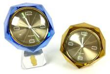 (2) Mercedes German Imperlux Crystal Clocks Lot 1413