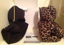 New Joy Mangano Flexassage Body & Neck Massage Pillow Set Choice Leopard Black