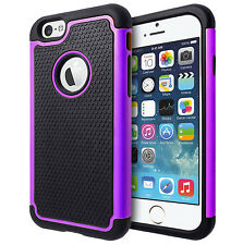 SHOCK PROOF DUAL LAYER ARMOUR HARD BACK CASE COVER FOR APPLE IPHONE 6 & 6 PLUS