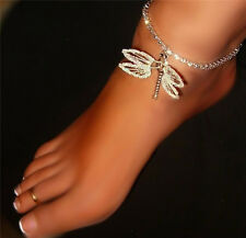 Oh My Dragon Fly Rhinestone Anklet Customized Sparkling SEXY Made in USA