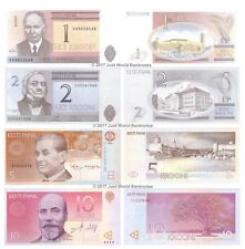 Estonia 1 + 2 + 5 + 10 Krooni Set of 4 Banknotes  4 PCS  UNC