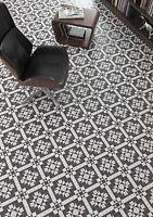 TILE DEALS / SAMPLES:Belgrave Victorian Mosaic Pattern Black White Floor Tiles